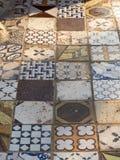 Итальянская плитка в Sperlonga, Италии Стоковое Изображение RF