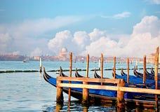 Итальянские гондолы, Венеция, Италия Стоковое Изображение