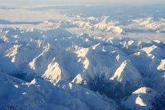 Итальянские горные вершины между Аостой и Susa Стоковые Фотографии RF