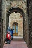 Итальянские города - San Gimignano Стоковые Изображения