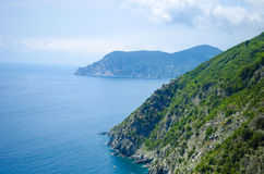 Итальянские горы береговой линии Стоковая Фотография