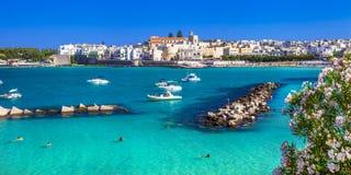 Итальянские праздники - красивое Otranto стоковое изображение rf