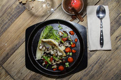 Итальянские рыбы в ресторане Стоковые Фотографии RF