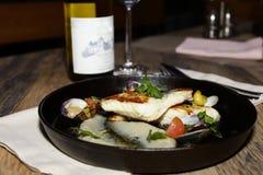 Итальянские рыбы в ресторане Стоковые Изображения