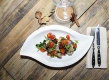 Итальянские рыбы в ресторане Стоковое фото RF