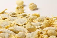 Итальянские свежие макаронные изделия Стоковая Фотография