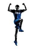 Итальянские силуэты человека футболистов Стоковое Изображение RF