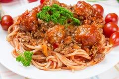 Итальянские спагетти блюда Стоковая Фотография RF