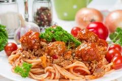 Итальянские спагетти bolognese блюда Стоковая Фотография