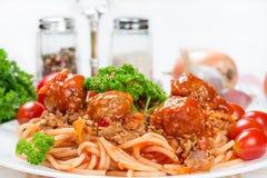 Итальянские спагетти bolognese блюда Стоковое Фото