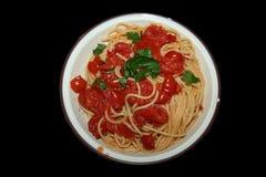 Итальянские томаты спагетти Стоковое Фото