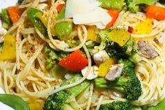Итальянские vegetable макаронные изделия Стоковая Фотография RF