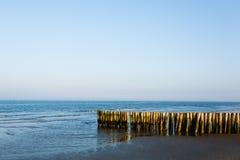 Итальянский ландшафт береговой линии, пляж Boccasette Стоковая Фотография
