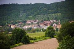 Итальянский ландшафт городка Стоковое Изображение