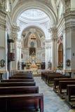 Итальянский барочный интерьер церков Стоковые Изображения