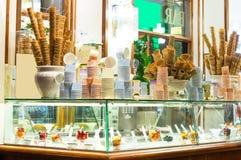Итальянский бар мороженого Стоковые Изображения
