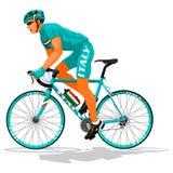 Итальянский велосипедист дороги Стоковая Фотография RF