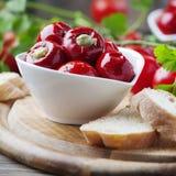 Итальянский горячий заполненный перец с каперсами и тунцом Стоковые Фото
