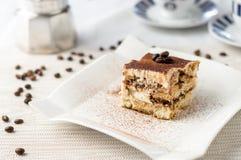 Итальянский десерт торта тирамису Стоковые Фотографии RF