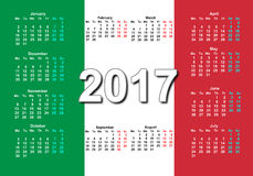 Итальянский календарь 2017 Стоковая Фотография