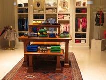 Итальянский магазин модной одежды Стоковая Фотография