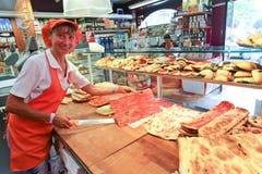 Итальянский магазин пиццы Стоковые Изображения RF