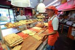 Итальянский магазин пиццы Стоковое Изображение RF