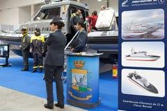 Итальянский морской финансовый предохранитель на большом голубом экспо Стоковые Изображения