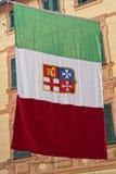 Итальянский морской флаг республики Стоковое Фото