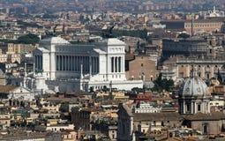 Итальянский национальный монумент к Vittorio Emanuele II в Риме в pia Стоковое Изображение RF