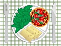 Итальянский обед Стоковое Изображение