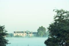 Итальянский дом в сельской местности Тосканы в Италии Стоковые Изображения