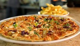 Итальянский ресторан пиццы Стоковое Изображение