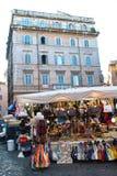 Итальянский рынок товаров Стоковая Фотография
