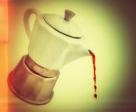 Итальянский создатель кофе Стоковое Изображение