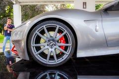 Итальянский супер автомобиль Стоковые Изображения