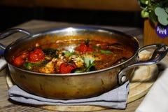 Итальянский суп в ресторане Стоковое Изображение RF