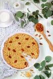 Итальянский торт Sbrisolona миндалины стоковая фотография rf