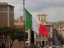 Итальянский флаг в Риме Стоковые Фото