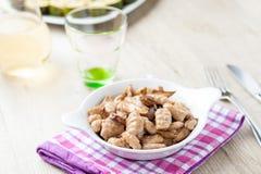 Итальянский gnocchi с грибами Стоковые Изображения RF