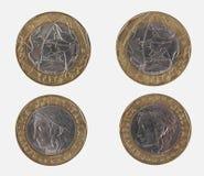 1000 итальянских лир монетки Стоковое Изображение