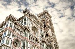 Итальянское Возрождение Тоскана, Флоренс, Santa Maria del Fiore и Колокольня di Giotto Стоковое Изображение RF