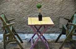 Итальянское кафе улицы Стоковое Изображение