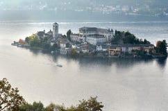Итальянское озеро Стоковые Фотографии RF