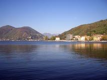 Итальянское озеро Стоковое Изображение