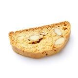 Итальянское печенье cantuccini с завалкой миндалины белизна изолированная предпосылкой Стоковое Изображение RF
