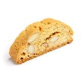 Итальянское печенье cantuccini с завалкой миндалины белизна изолированная предпосылкой Стоковое фото RF