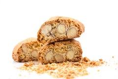 Итальянское печенье cantuccini с миндалиной Стоковые Фото