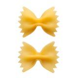 Итальянское сырцовое farfalle макаронных изделий, бабочка, бабочка Стоковое Изображение RF