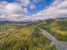 Итальянское шоссе, вид с воздуха стоковые фото
